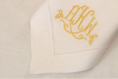 Colette Embroidered Monogram
