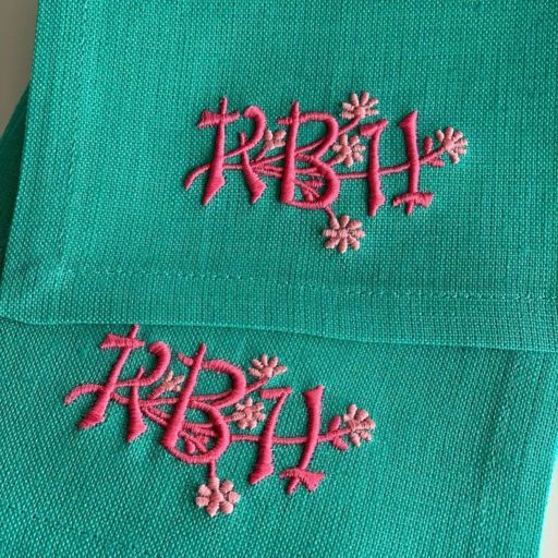 May 5 2020 Leiger Embroidery Monogram